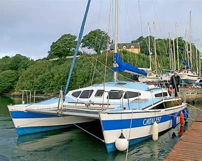 sailing catamaran woods woods eclipse 99 cruising catamaran for sale catamaran