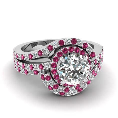 pink sapphire engagement rings fascinating diamonds