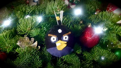 angry birds christmas ornaments black bird