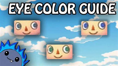 acnl eye color guide acnl eye guide eye color guide animal crossing new leaf