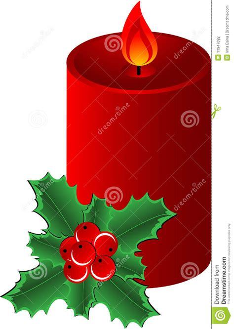 candela natale candela di natale illustrazione vettoriale immagine di