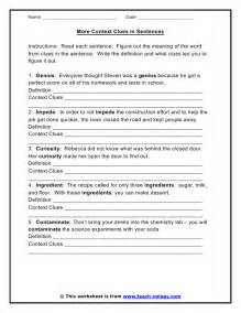 free context clues worksheets abitlikethis