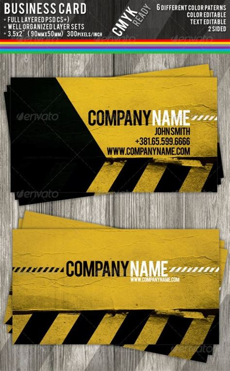 Free Construction Business Cards Templates 25 best ideas about construction business cards on