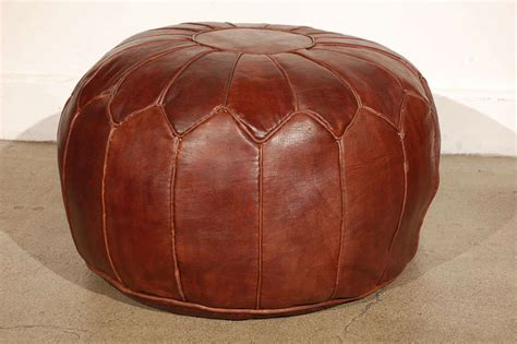 Large Pouf Ottoman Moroccan Large Leather Pouf At 1stdibs
