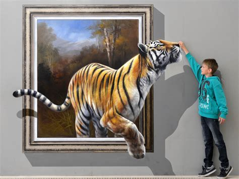 best 3d painting 3d painting poster of baby and tiger hd wallpapers rocks