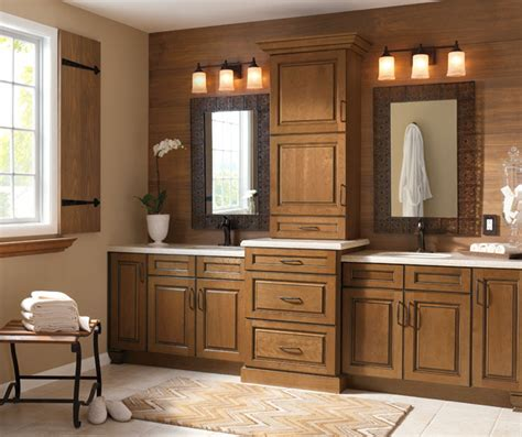 glazed cabinets in casual bathroom kitchen craft cabinetry