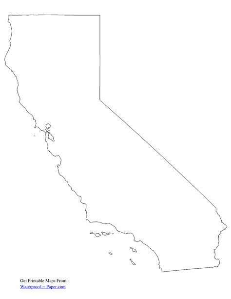 california state map outline california free state printables free printable