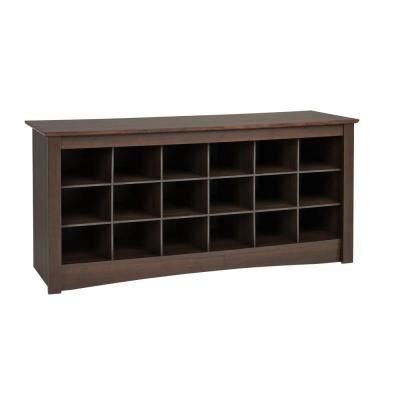 prepac sonoma shoe storage cubbie bench ess 4824 the