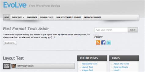 themes wordpress evolve the best free professional wordpress themes in 2012 listed