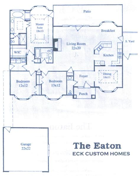 bay window floor plan eck custom homes inc greenwood s c