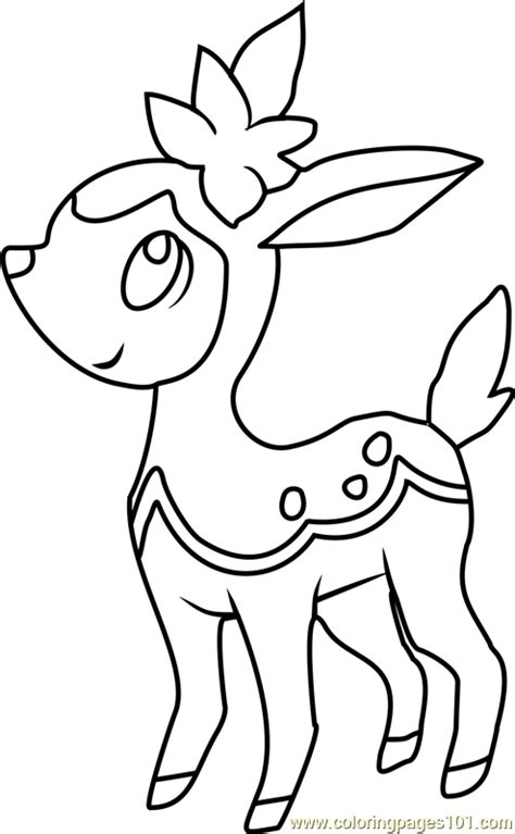 Pokemon Coloring Pages Deerling | deerling from pokemon images pokemon images