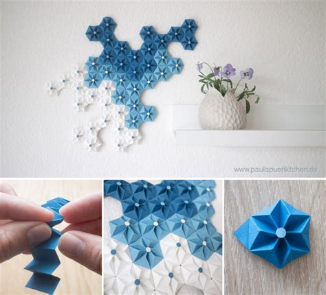 Origami Wall Diy - beautiful diy origami flowers to decorate your wall wall