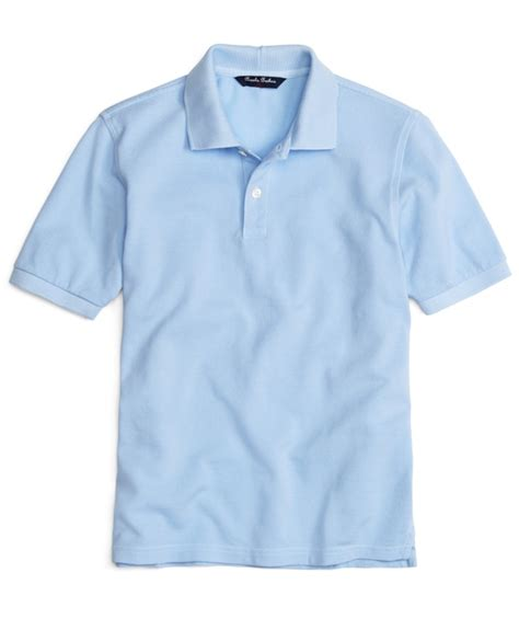 Kaos Tshirt Turn Back C R I M E boys light blue sleeve polo shirt brothers