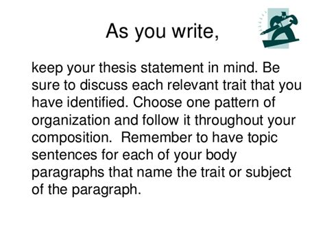 what pattern of organization does this paragraph follow writing comparison contrast 2010