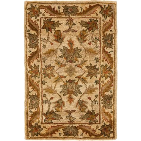 3 x 4 area rug safavieh antiquity gold 2 ft 3 in x 4 ft area rug at52d 24 the home depot