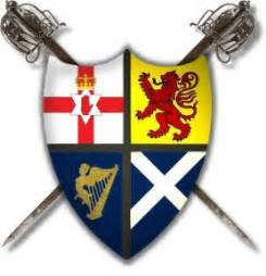 scotch irish ulster scots coat of arms forged in