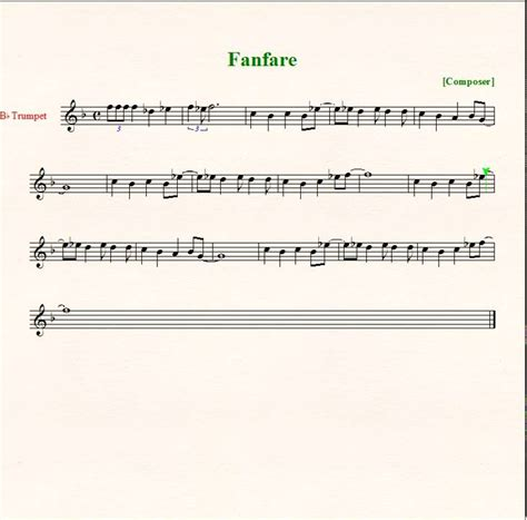 final sections in music final fantasy fanfare sheet music trumpet youtube
