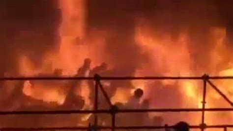 theme park explosion terrifying moment flammable powder explodes over crowd in