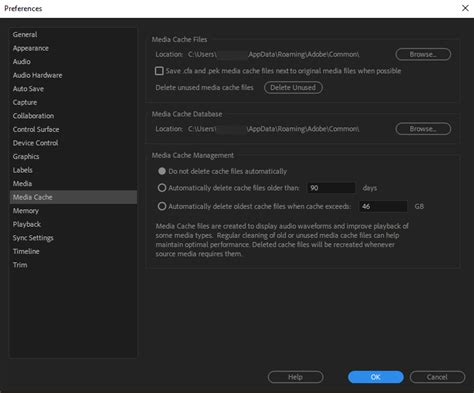 adobe premiere pro xmp configure preference settings in premiere pro