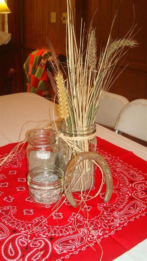 Rustic Country Centerpieces For Ffa Banquet Table Centerpieces