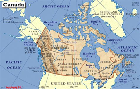 Where Is The Interior Plains Located In Canada by Kanada Weltatlas