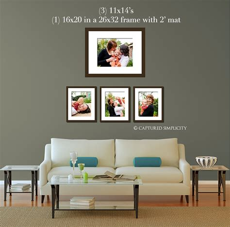 20x30 Picture Frame On Wall by 11x14 S And A Framed 16x20 Sofa Wall Displays
