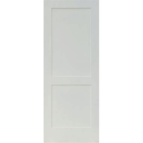 20 Interior Door Krosswood Doors 24 In X 96 In Craftsman Shaker 2 Panel Primed Solid Mdf Interior Door