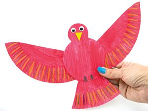 Bird Paper Plate Craft - bird crafts for and toddlers activitybox