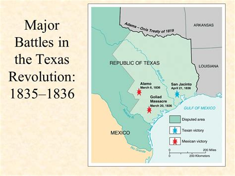 texas revolution map 1836 american progress aka manifest destiny ppt