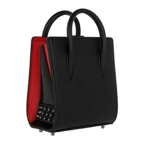 christian louboutin bag nano black black in black fashionette
