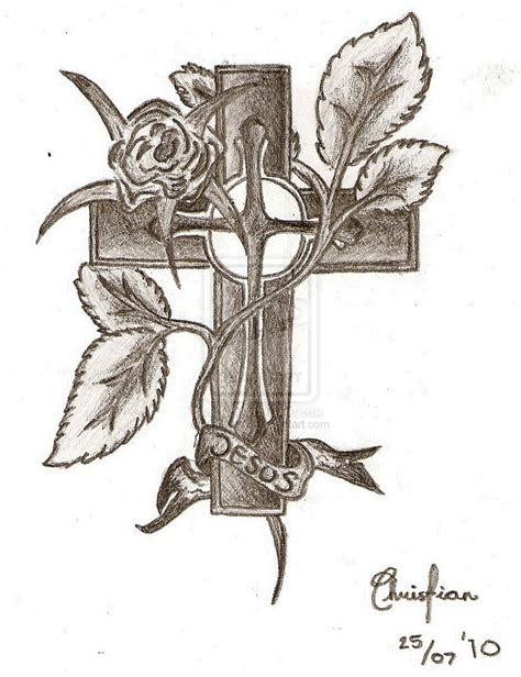 cross sketches for tattoos jesus cross drawings search tattoos