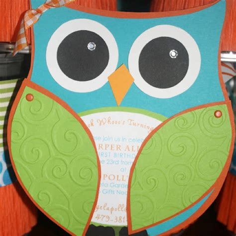owl invitation craft time pinterest