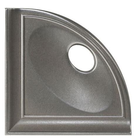daltile bathroom accessories 5 1 4 quot daltile stainless cast metal corner shelf with flat