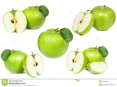 Set Apple Green set with green apple stock images image 18623934