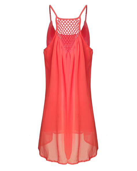 Hollow Out Dress sleeveless chiffon hollow out dress gonchas