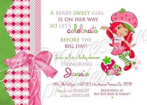 Strawberry Shortcake Baby Shower Invitations pin by em on baby