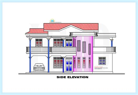 Side Elevation | house front elevation drawing