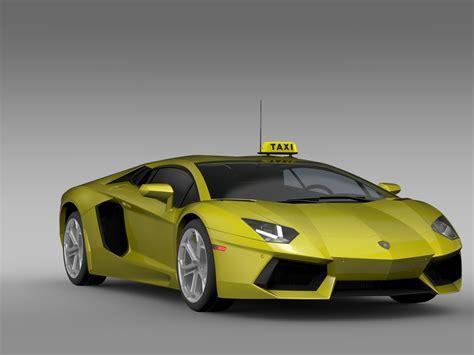 Lamborghini 2016 Models Lamborghini Aventador Taxi 2016 3d Model Obj 3ds Fbx