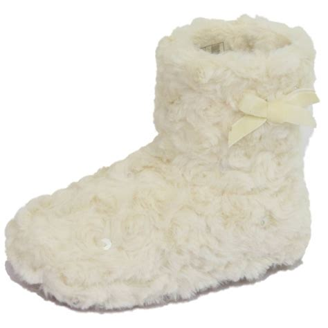 slippers white company childrens flat pull on fluffy slipper