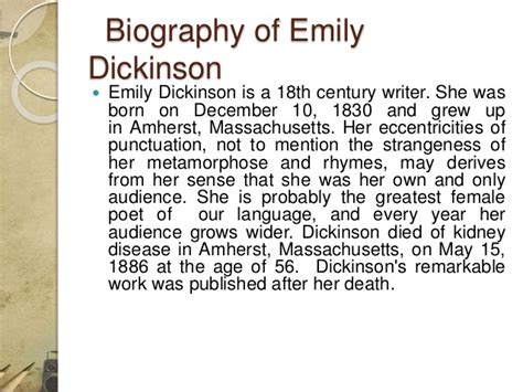 emily dickinson biography quiz emily dickinson essay research papers emily dickinson