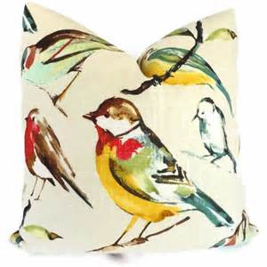 Decorative Pillows With Birds by Song Birds Decorative Pillow Cover With Parrot 18x18
