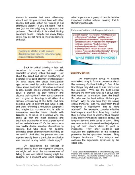 critical thinking what it is and why it counts 2007 update resume writing part time