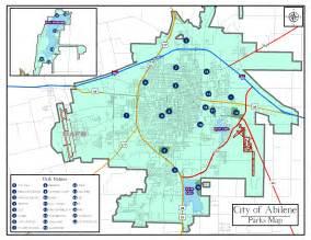 abilene city parks map abilene mappery