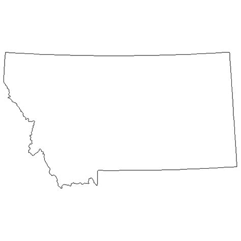 Montana Map Outline by Montana Outline Printable Pictures To Pin On Pinsdaddy