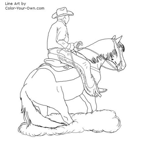 coloring pages of quarter horses reining horse coloring page