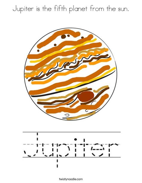 printable pictures jupiter jupiter is the fifth planet from the sun coloring page