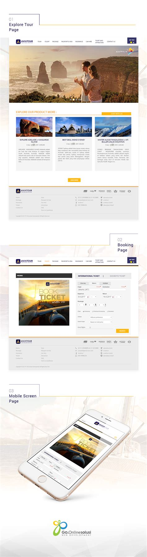 web design agency jakarta avia tour portfolio gositus web design and digital