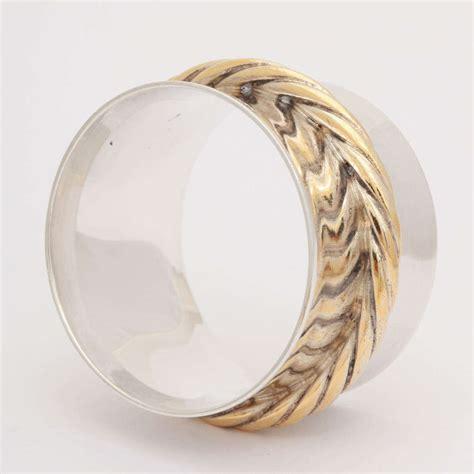 set of 6 sterling silver hermes napkin rings at 1stdibs
