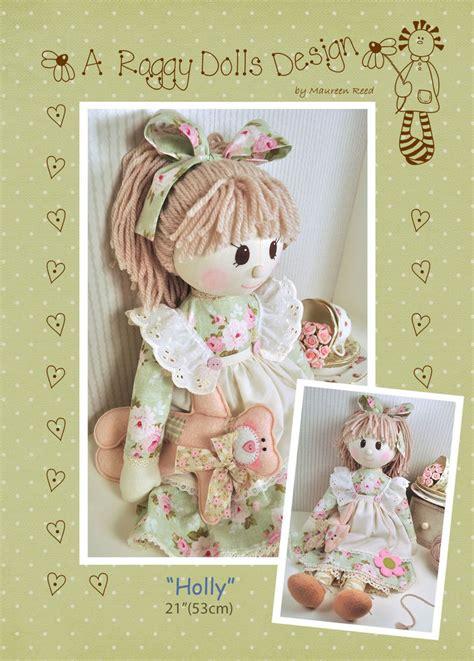 holly rag doll sewing craft pattern primitive prim