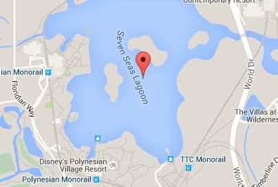 map  seas lagoon  walt disney world report